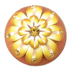 Botón flor fantasía amarillo