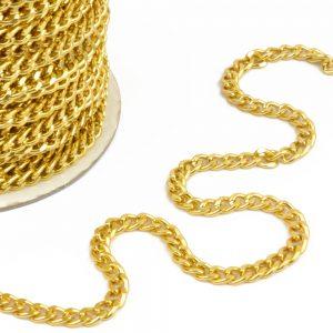Cadena aluminio cierre oro