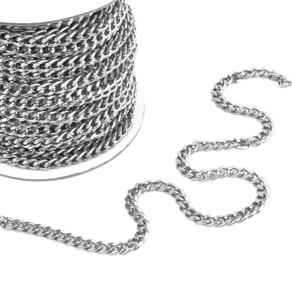 Cadena aluminio cierre plata