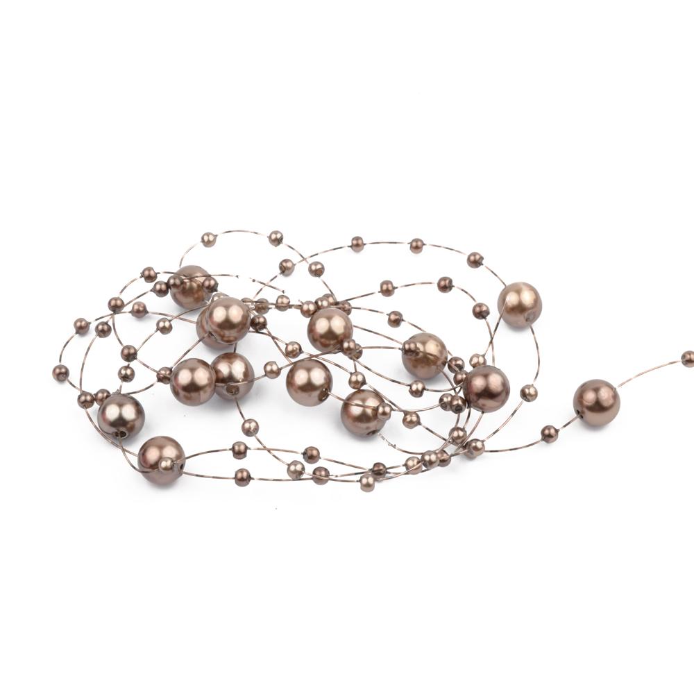 Hilo de perlas bronce