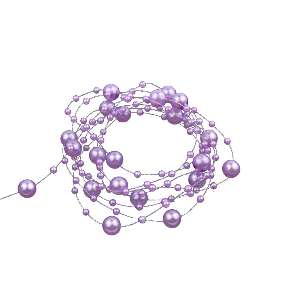 Hilo de perlas lila