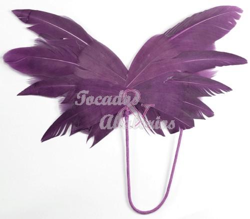 Mariposa de plumas