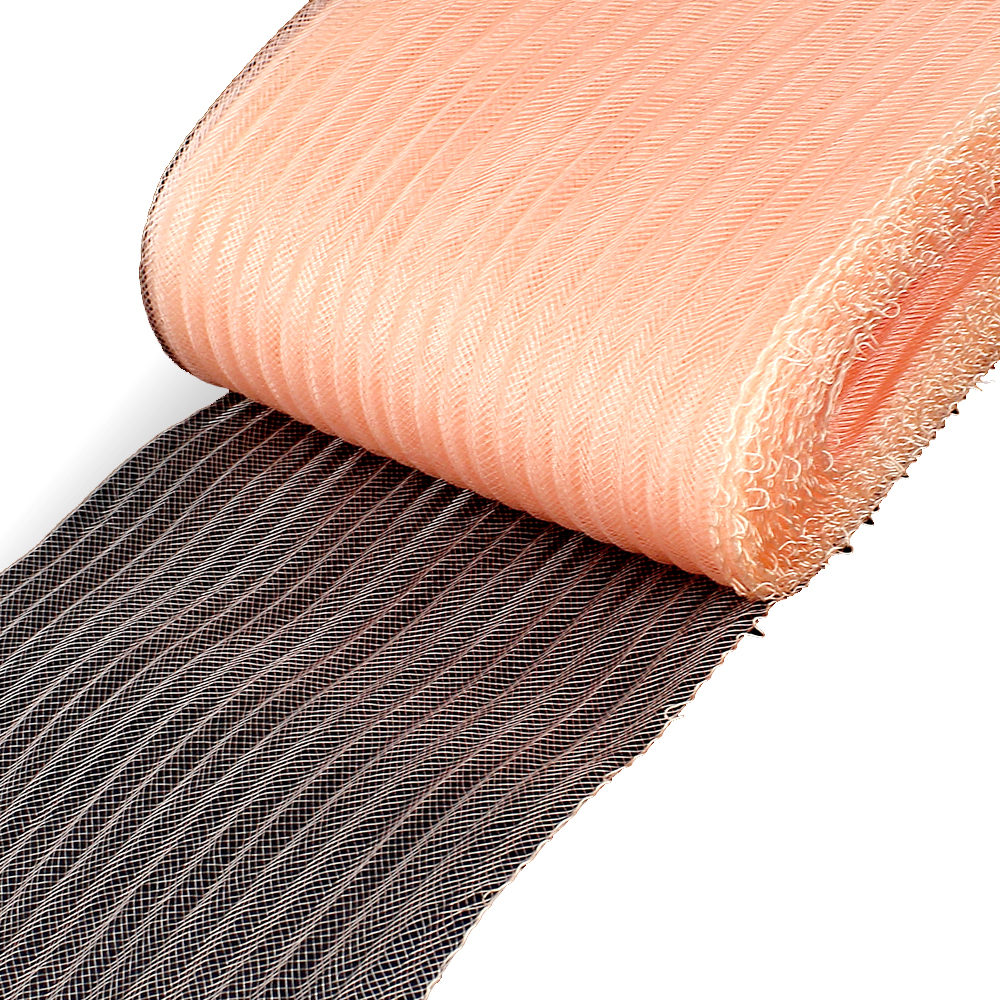 Crin ondulado 15 cm salmón