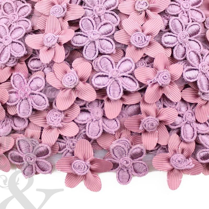 Cinta de flores con bordados 2.5 cm