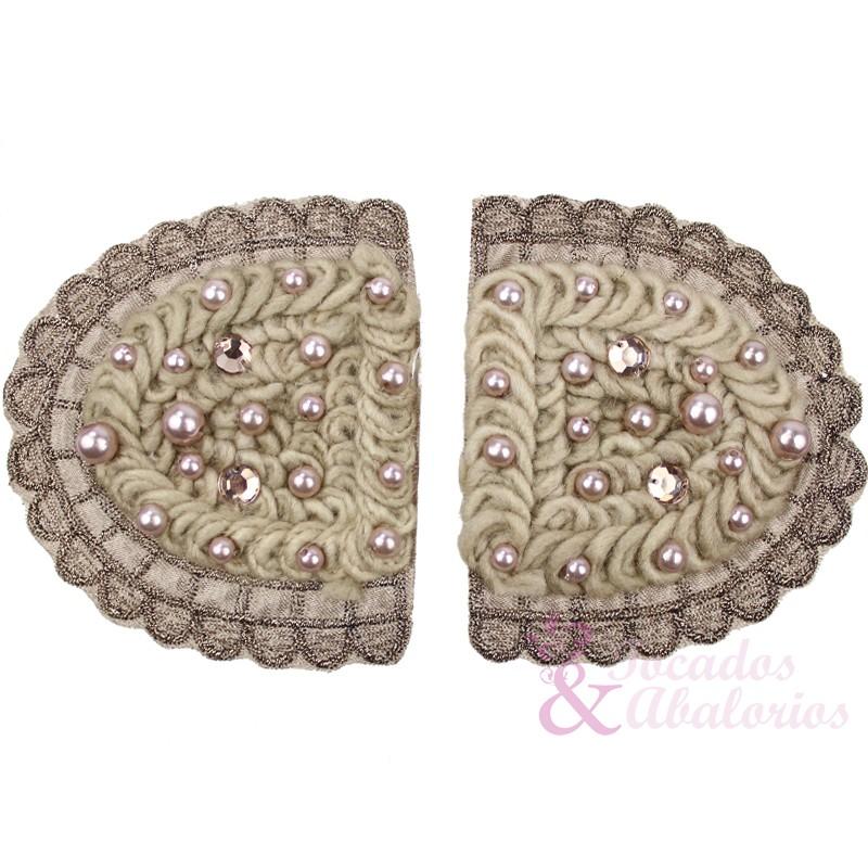 Hombreras bordadas con perlas (2ud)