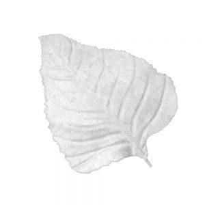 Hoja de terciopelo 25×12 cm blanco