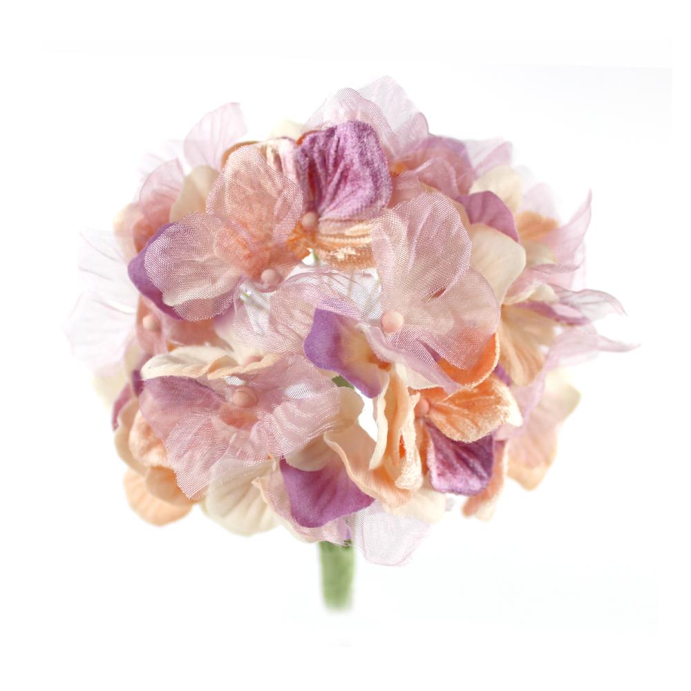 Hortensia Hydrangea 10 cm beige y malva