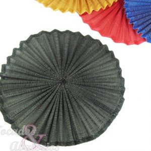Base Sinamay seda plisada 20 cm