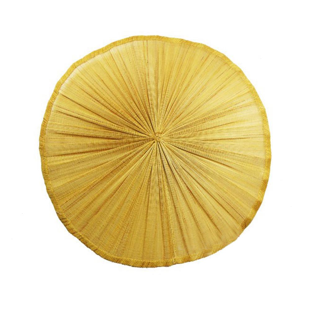 Base Sinamay seda plisada 20 cm dorado