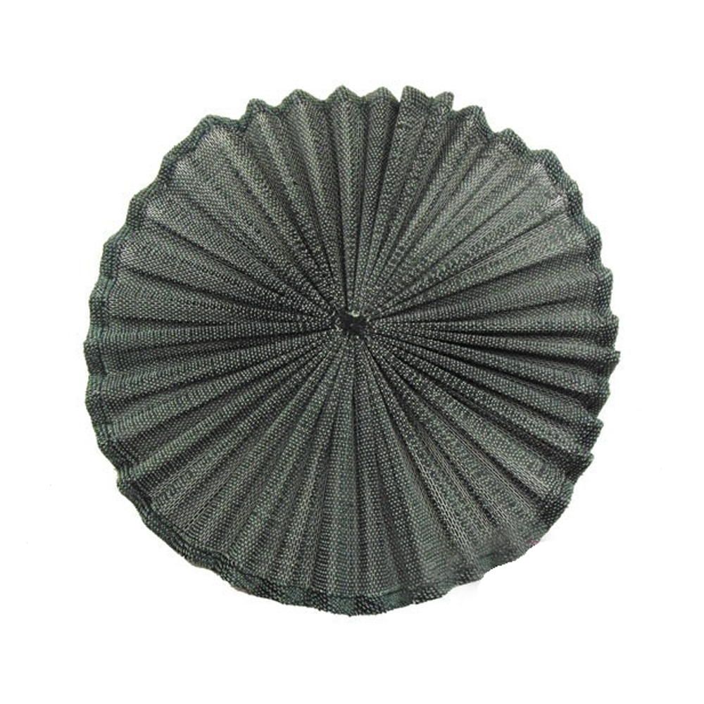 Base Sinamay seda plisada 20 cm negro
