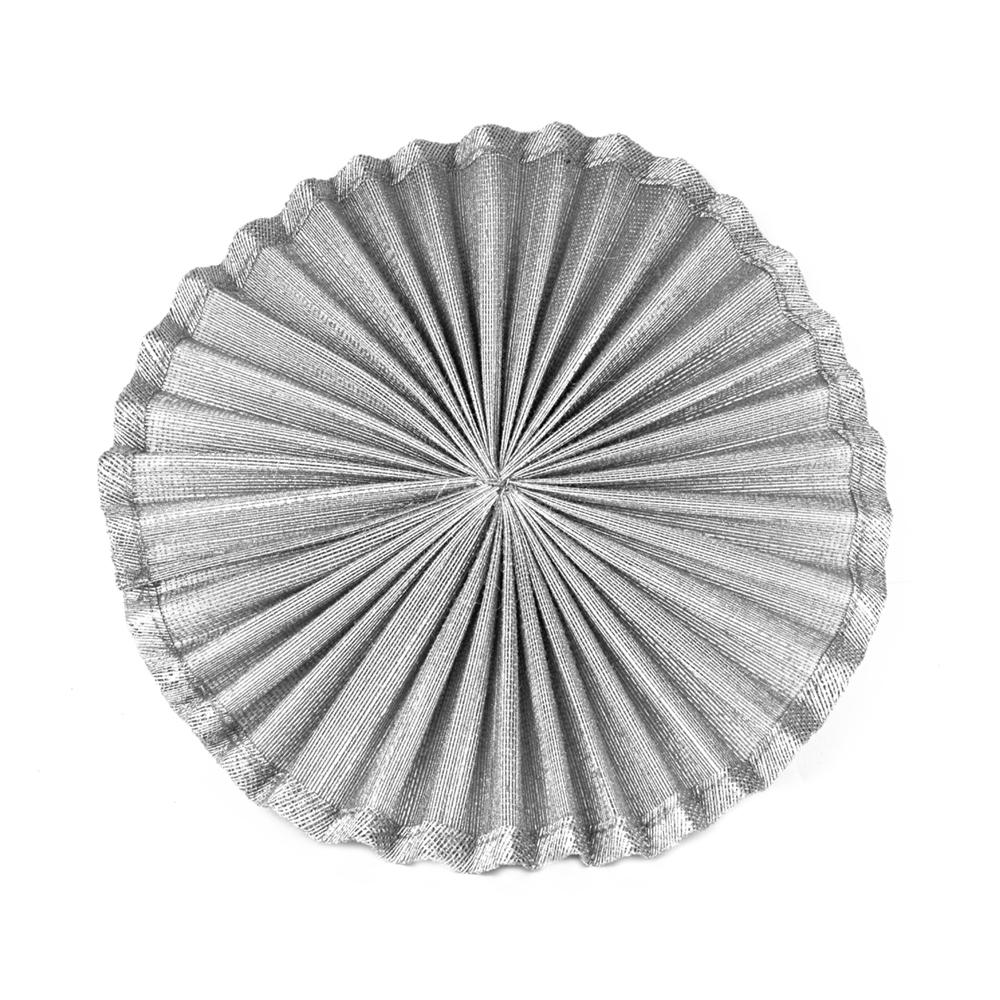 Base Sinamay seda plisada 20 cm plata