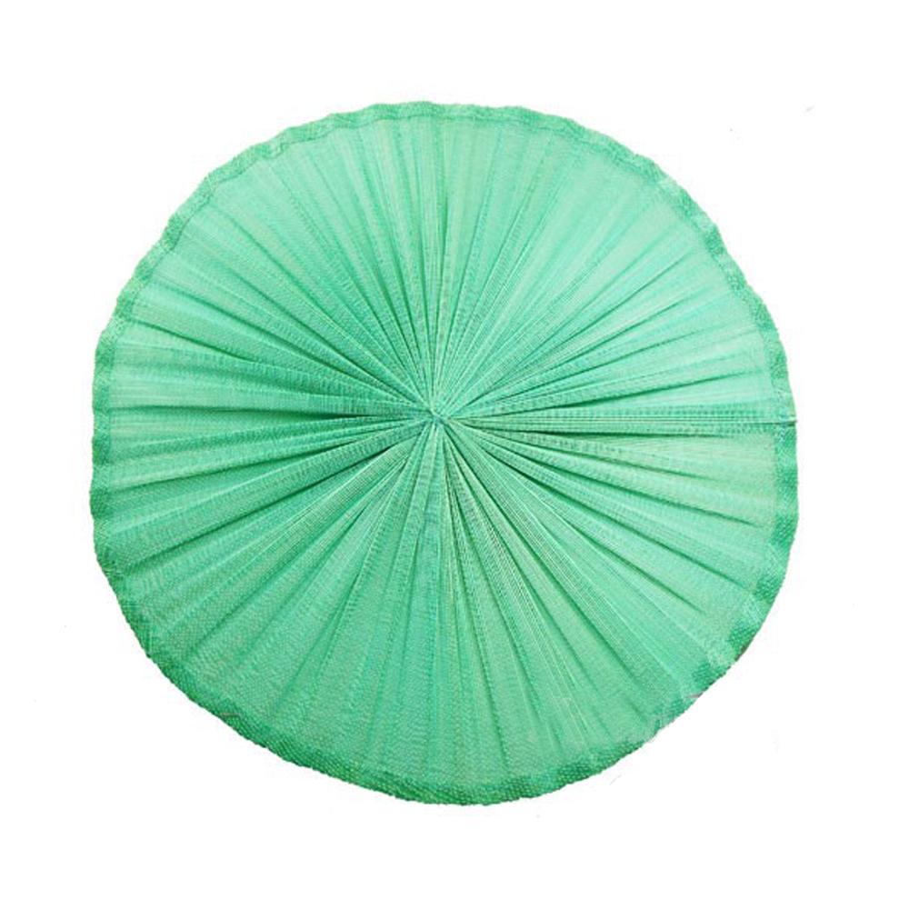 Base Sinamay seda plisada 20 cm verde agua