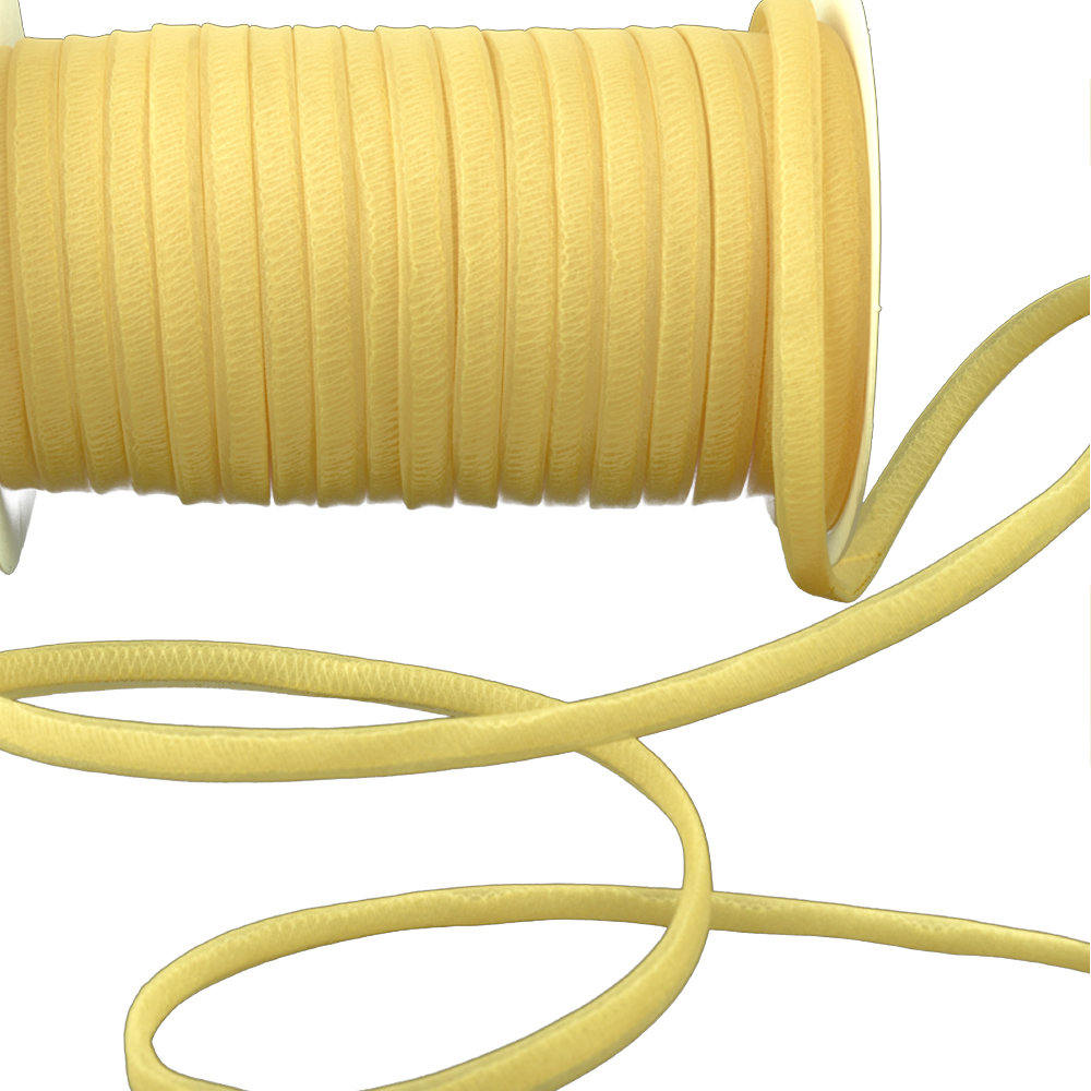 Espagueti organdí 7 mm amarillo