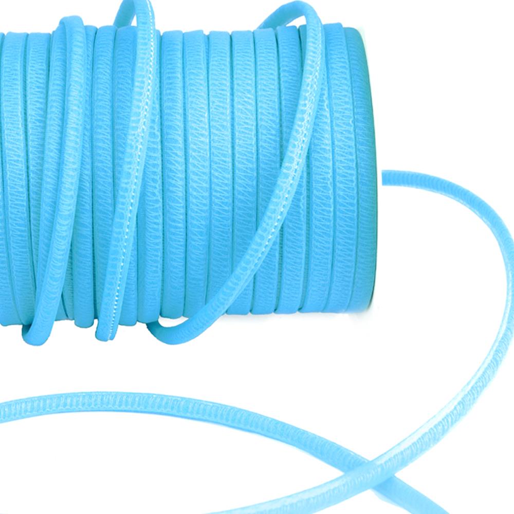 Espagueti organdí 7 mm azul medio