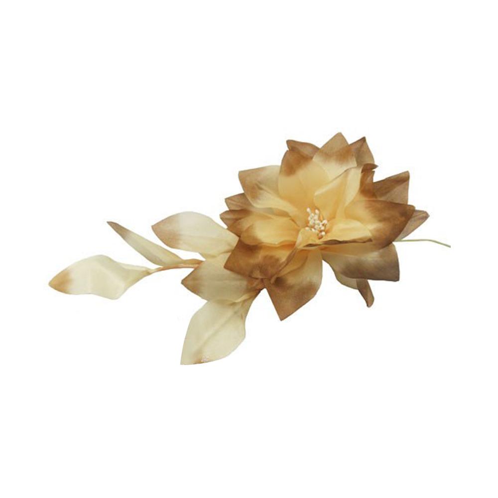 Flor con pétalos 12 CM beige tostado