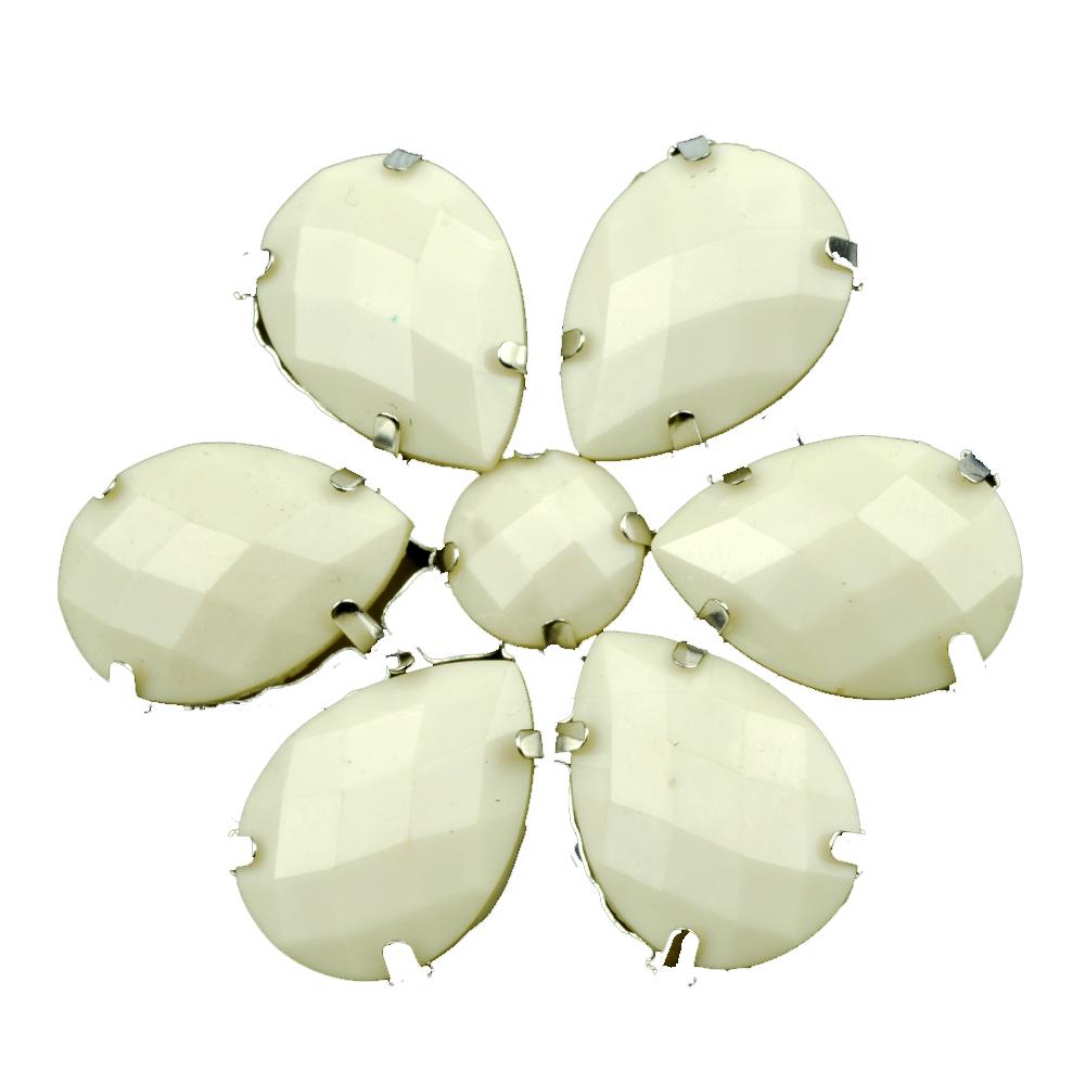 Flor Piedra 4 5 cm blanco roto