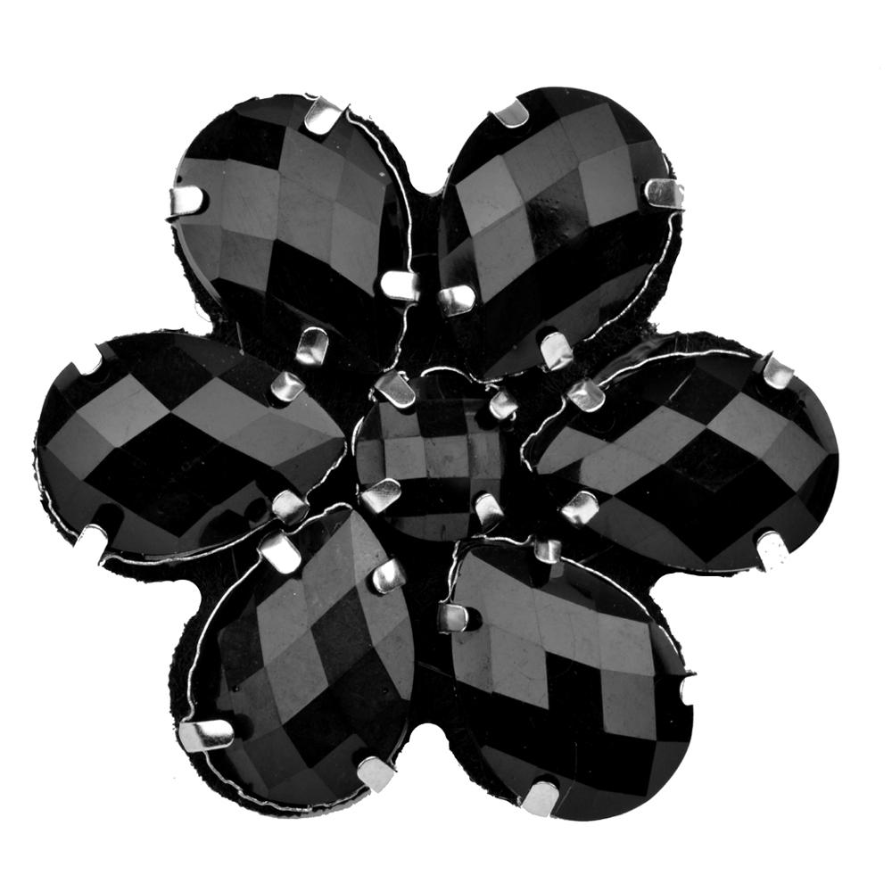 Flor Piedra 4 5 cm negro