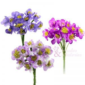 Ramo de florecillas con pistilos 10x5 cm