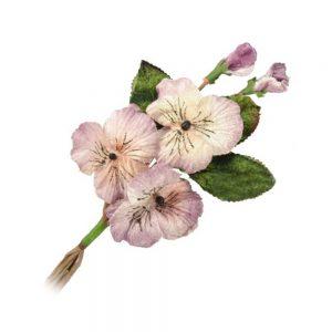 Flores de terciopelo 14×9 cm malva