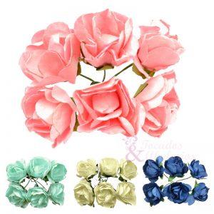 Ramillete Rosas de papel
