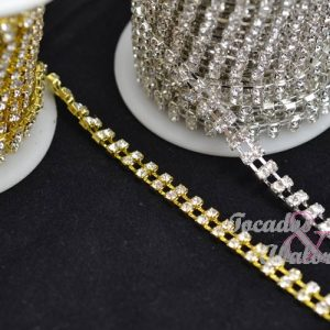 Cadena doble strass 6 mm