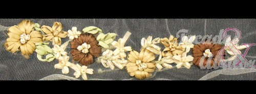 Aplique bordado flores