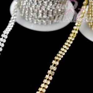 cadena doble strass 5mm