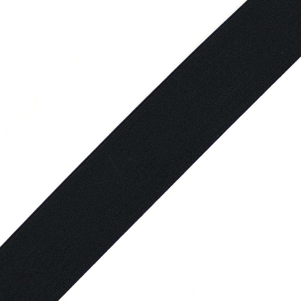 Cinta elástica lisa 6 cm negro