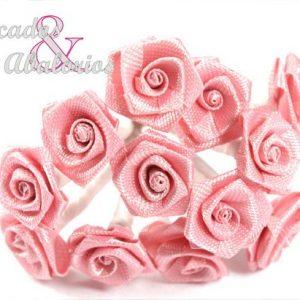 mini rosas de tela