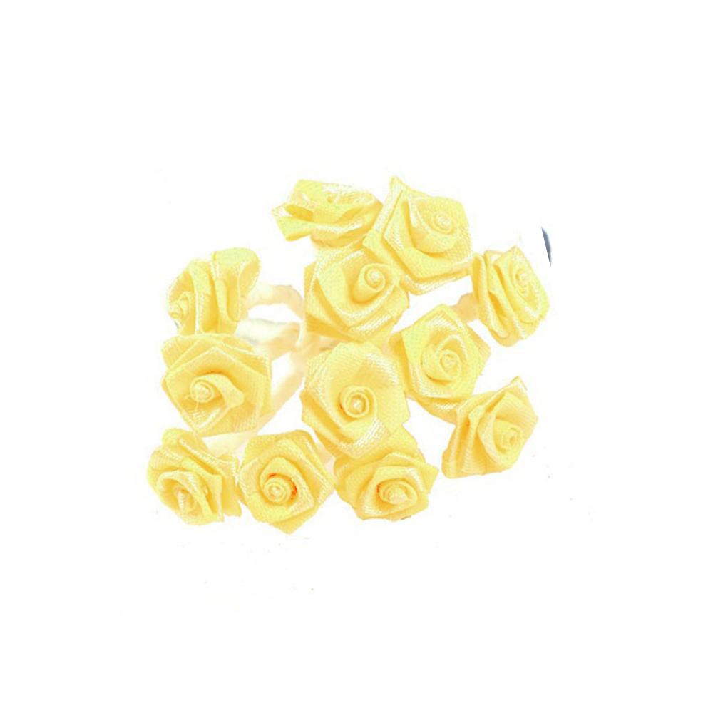 mini rosas de tela mimosa