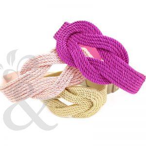 Cinturón de cordón trenzado