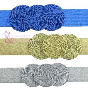 Cinturón de cordón trenzado círculos