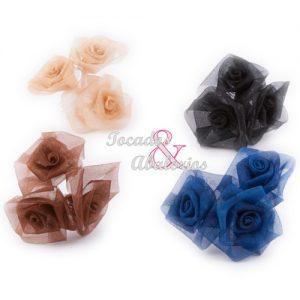 Ramillete 3 rosas organdil