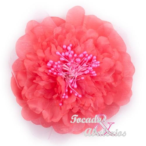 Flor 10cm tul pistilos