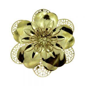 Flor Laton 10 CM oro viejo