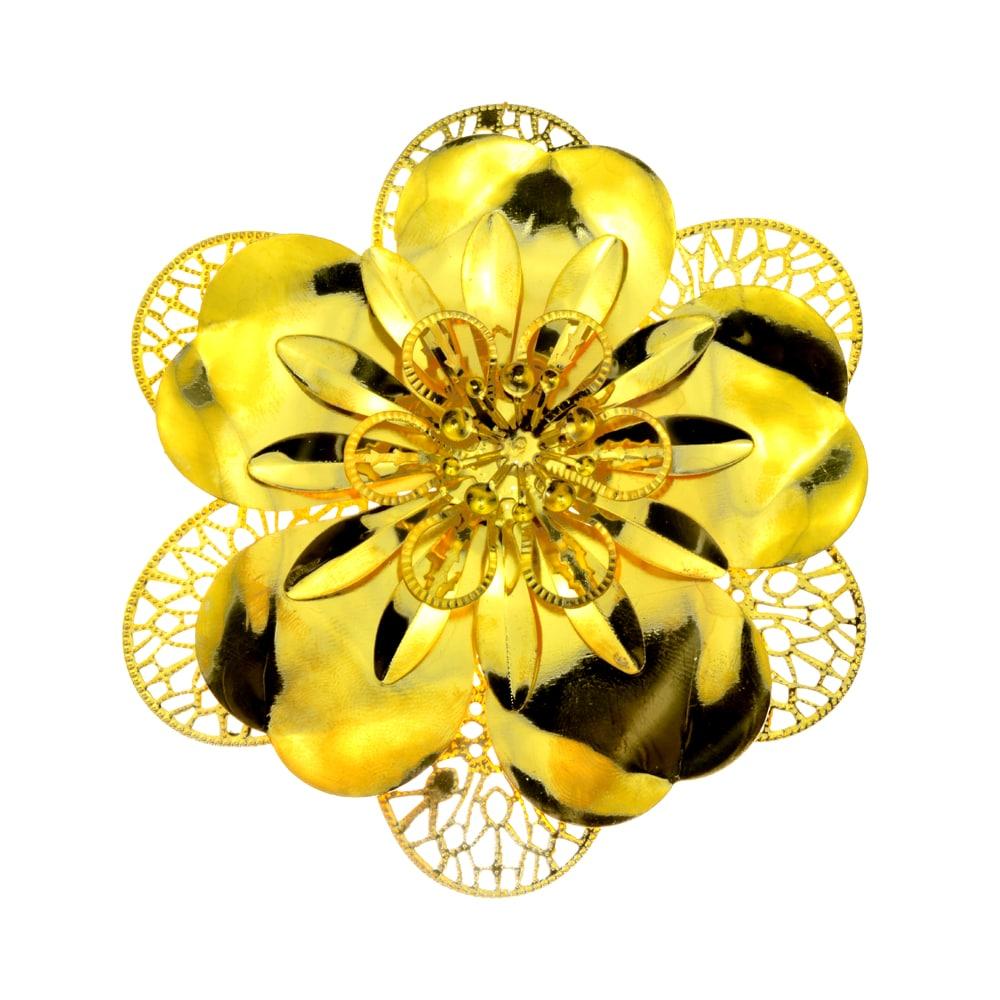 Flor Laton 10 CM oro