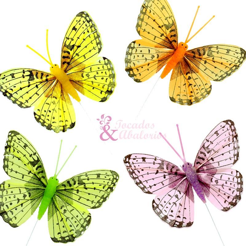 Mariposa plumas 8x6cm.