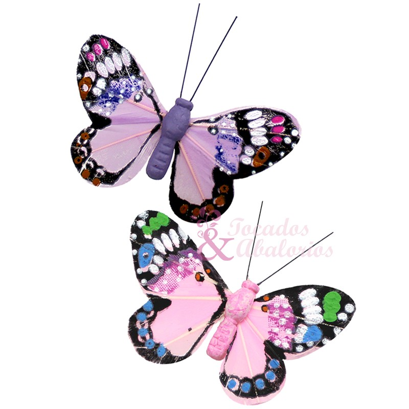 mariposa de plumas 7x4 cm