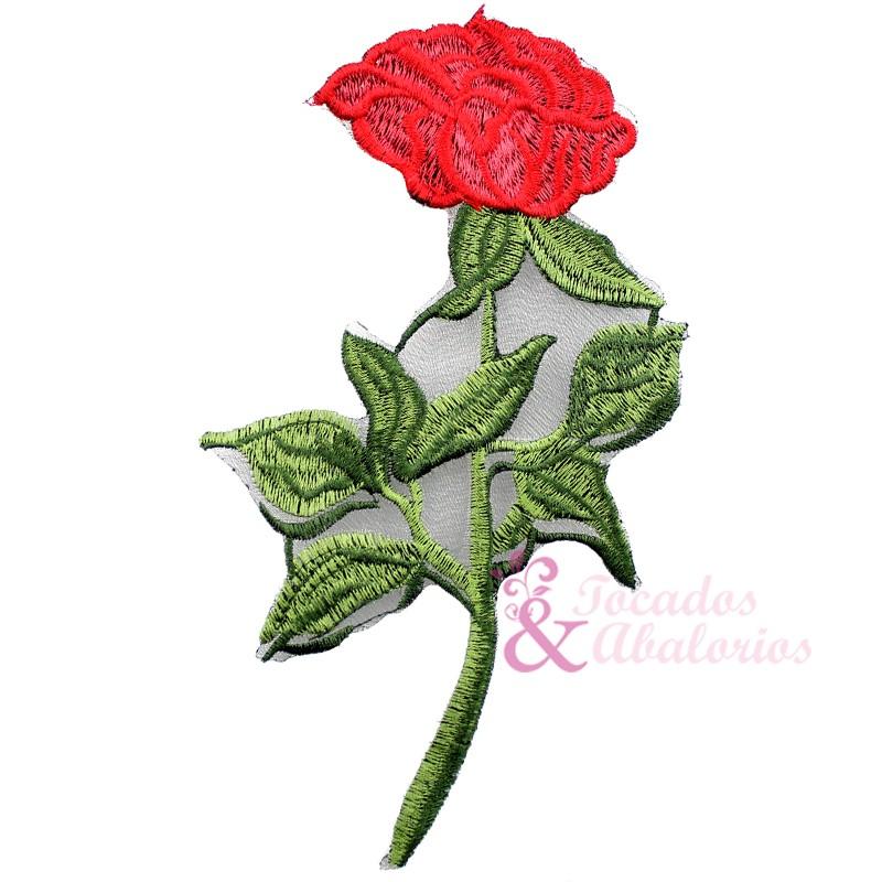 Aplicación Bordada Rosa