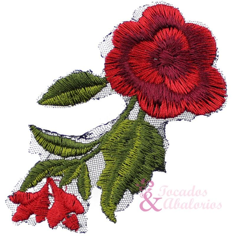 Aplicación Bordada pequeña flor