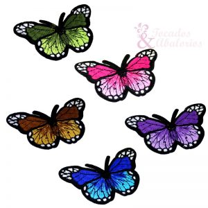 Mariposa bordada termoadhesiva