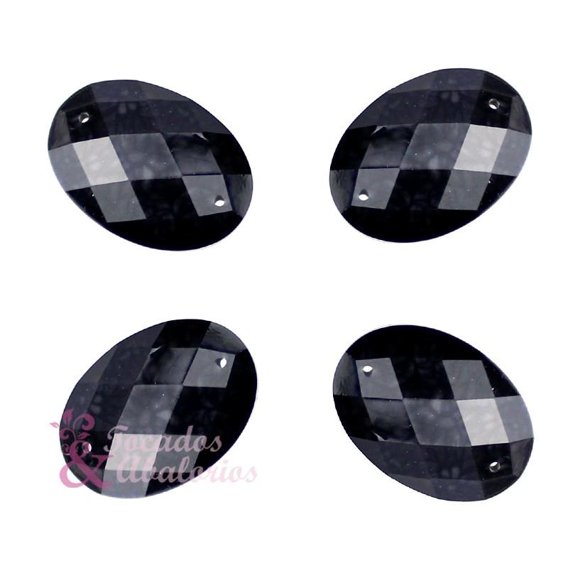 Aplicación oval marmoleada 25x18 mm