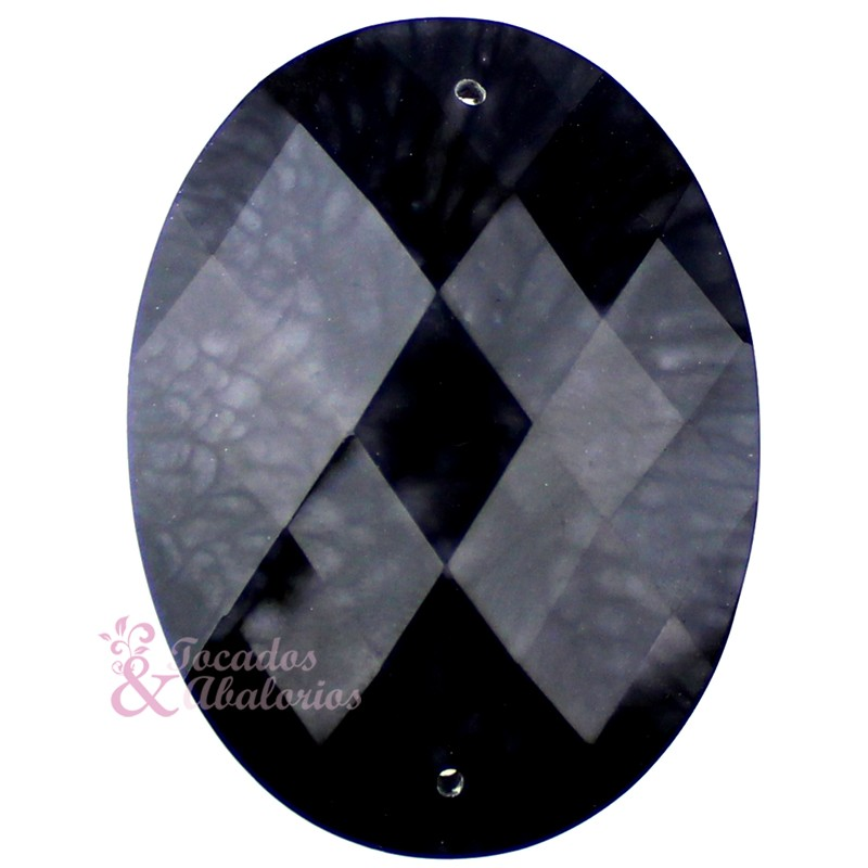 Aplicación oval marmoleada 30x40 mm