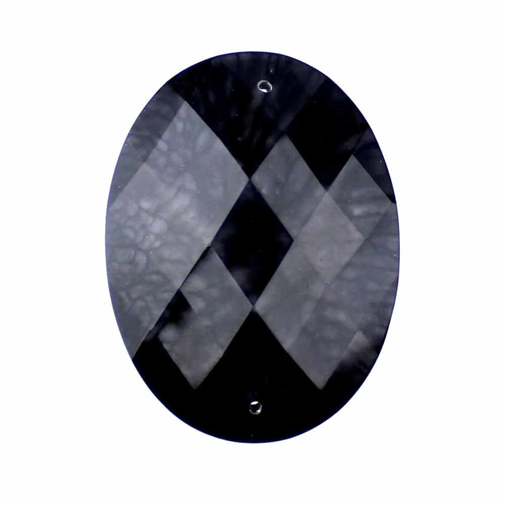 Aplicación oval marmoleada 30×40 mm negro