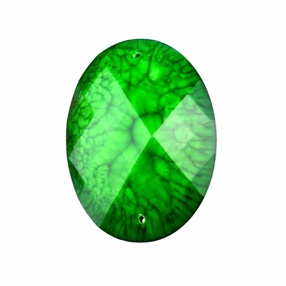 Aplicación oval marmoleada 30×40 mm verde jungla