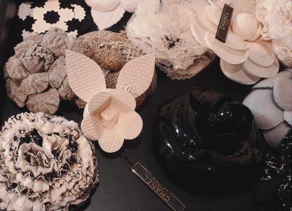 diferentes flores seda