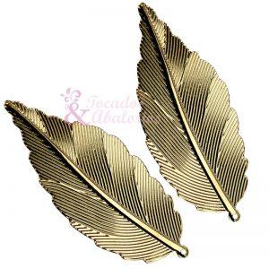 Pluma latón 6x2.5 cm (2 ud)