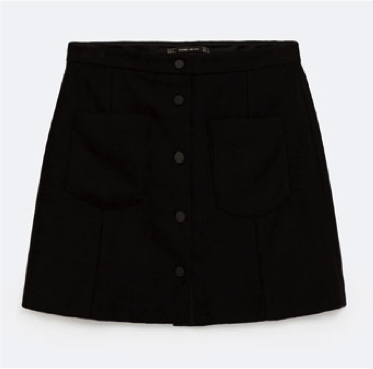 falda negra de Antelina