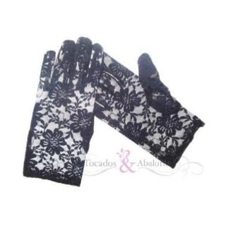 guantes cortos con encaje