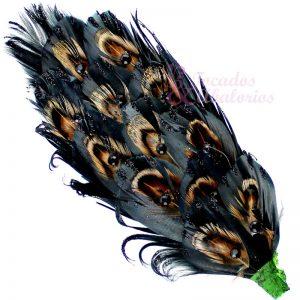 Aplique plumas Faisán Strass